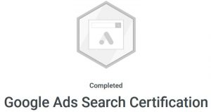 certificate for google ad search
